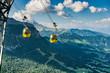 Quadro Dolomites mountains - Alta Badia, Piz La Ila. Gondola train.