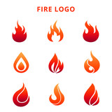 Fototapety Colorful flame of fire logo isolated on white background