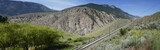 Railroad tracks in the Fraser Canyon , British Columbia , Canada.