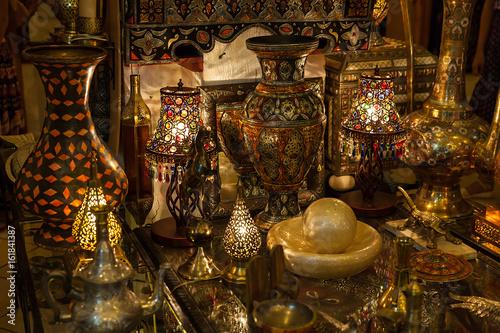 Fotobehang Marokko store in street market