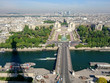 Panoramic views of Paris in a sunny day from Eiffel Tower, France