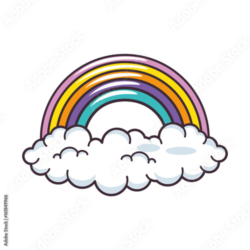clouds and rainbow icon vector illustration graphic design