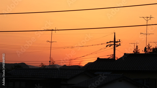 Papiers peints Orange eclat 夕焼け