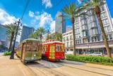 Fototapety New Orleans, Louisiana, USA streetcars
