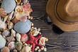 Quadro Beach accessories on wooden board
