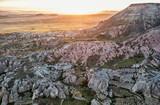 Sunrise over rocky landscape in Cappadocia, Turkey. - 161869709