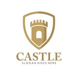 Castle logo, icon, and illustration vector - 161874993