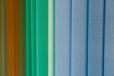 Parallel plates of a roller shutter as a background. - 161875507