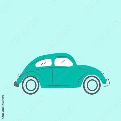 Foto op Canvas Groene koraal Cars illustration