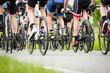 Quadro Cyclist in a race