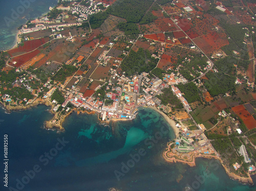 Ibiza, Spain. View from the airplane window