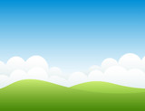 Hills and sky. Vector illustration. - 161896523