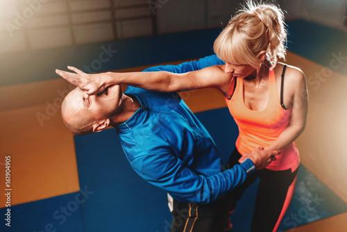Women self defense technique, martial art