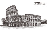 Fototapety Roman Colosseum. Rome, Italy, Europe. Travel. Architecture and l