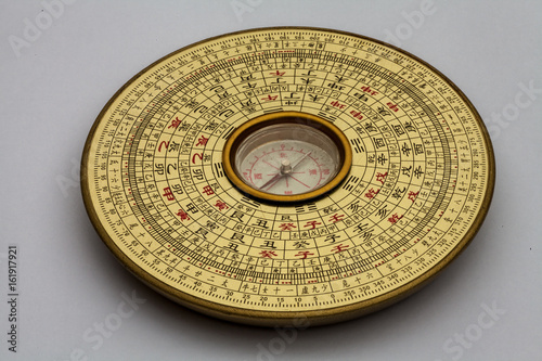 Chinese Luopan compass, used to read Feng Shui of the environment Poster
