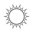 isolated big sun icon vector illustration graphic design