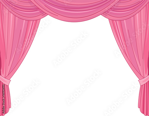Staande foto Sprookjeswereld Pink Curtains