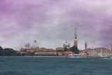 Veduta panoramica di Venezia dalla laguna