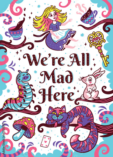 Print with characters from Alice in wonderland - 161930917