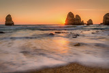 Stunning beach and rock formations in Lagos, Portugal