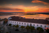 Town of Faro in Portugal on a sunset