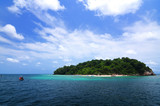 Island in the sea with beautiful sky.