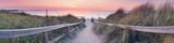 Panorama plaży zachodu słońca