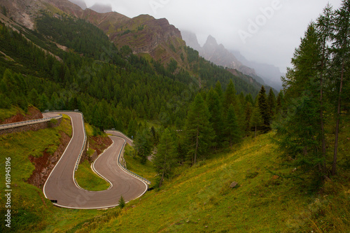 road at the Dolomites Poster