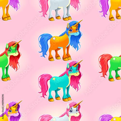 Set of cute unicorns