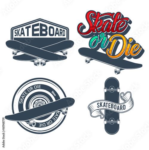 Fotobehang Skateboard skateboard vector