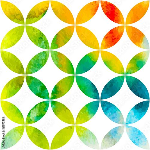 Deurstickers Geometrische dieren Watercolor pattern design