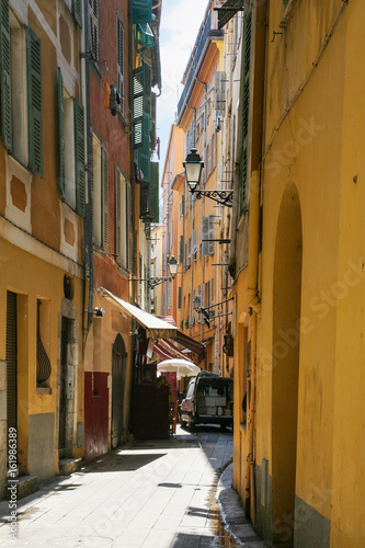 narrow residential street in old city of Nice