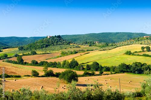 Deurstickers Toscane Typical tuscan country panorama near Massa Marittima (GR), Italy