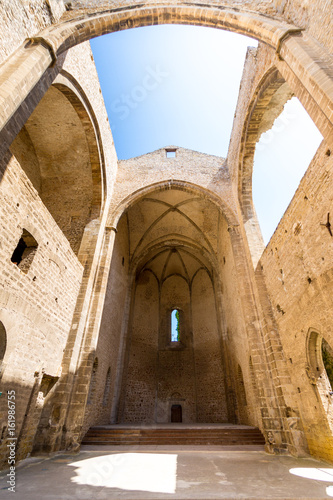 Santa Maria dello Spasimo roofless church in Palermo, Italy