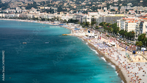 Spoed canvasdoek 2cm dik Nice urban beach near Promenade des Anglais in Nice