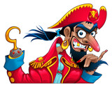 Funny pirate character