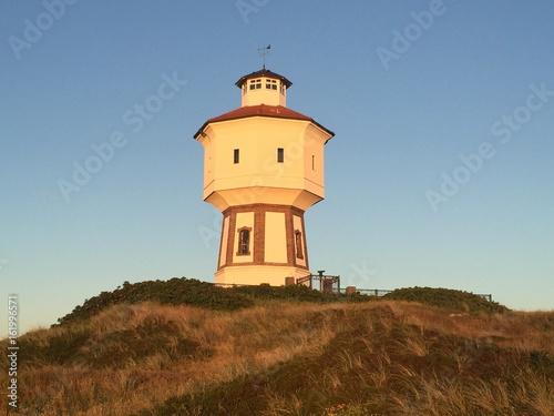 Foto op Canvas Noordzee Sonnenuntergang Wasserturm Langeoog