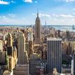 Blick auf Manhatten in New York City, USA - 162003307