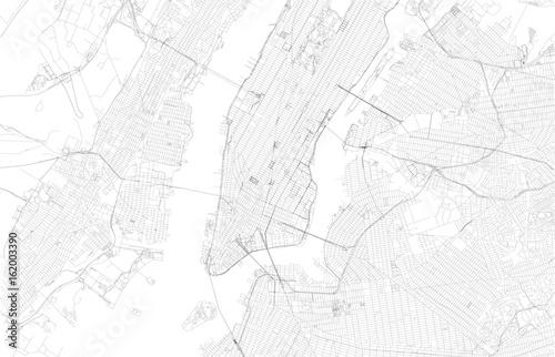Cartina di New York, città, strade e vie, Stati Uniti - 162003390