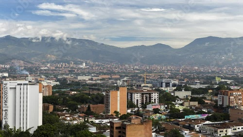 time-lapse of medellin colombia