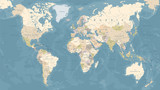 Vintage World Map - Vector Illustration - 162007551