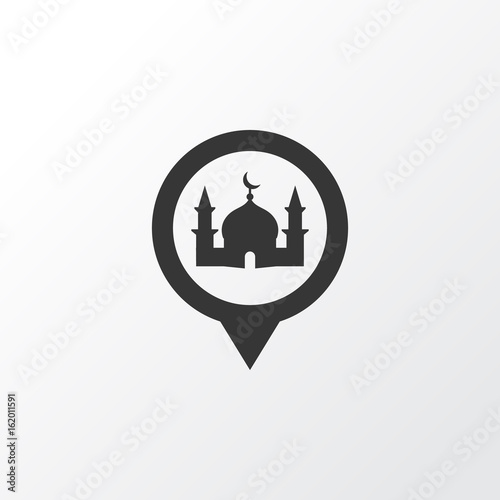 Mosque Icon Symbol. Premium Quality Isolated Place Element In Trendy Style.