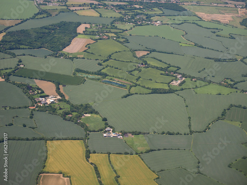 Aerial view of Essex Poster