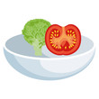 dish food vegetable icon vector illustration design graphic - 162018936