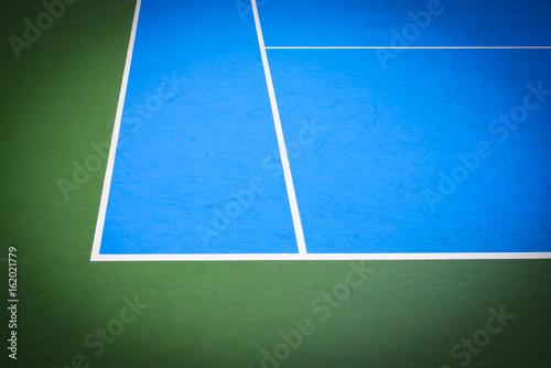 Fotobehang Tennis blue and green tennis court surface