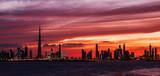 Zachód słońca na tarasie w Dubaju