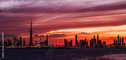 Sunset of Dubai Terrace