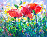 Oil Painting, Impressionism style, texture painting, flower still life painting art painted color image, - 162024769