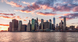 New York City at sunset - 162029128