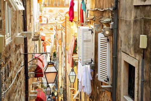 Plagát Old street in Dubrovnik